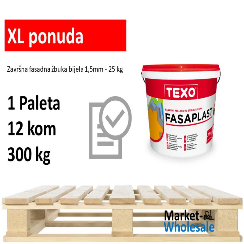 TEXO FASAPLAST 1,5 MM BIJELI -XL