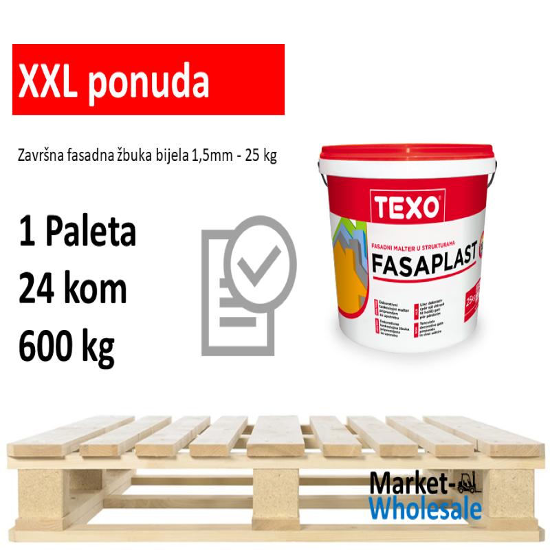TEXO FASAPLAST 1,5 MM BIJELI  -XXL