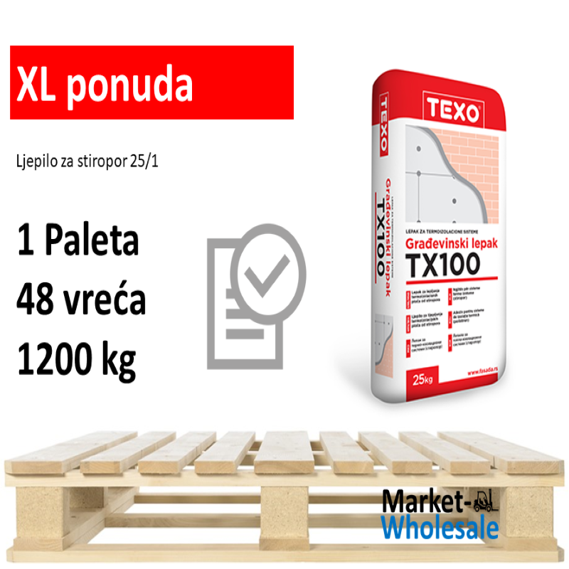 TEXO TX 100 -XL - Ljepilo za stiropor