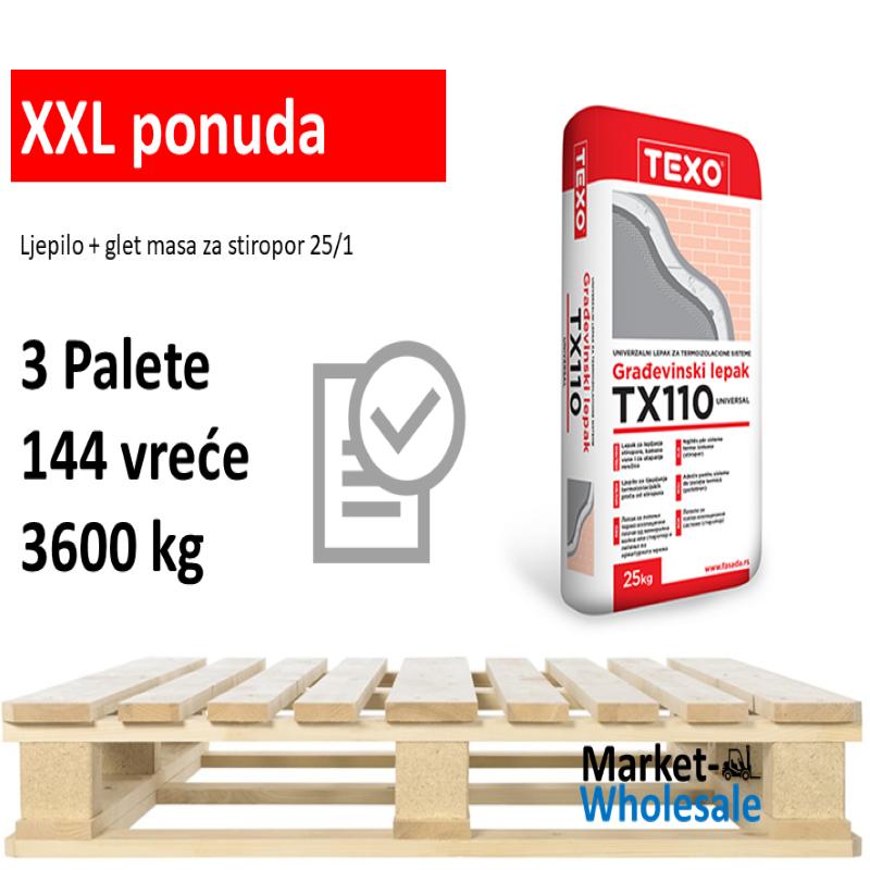 TEXO TX 110 BIJELO -XXL - ljepilo za lijepljenje i armiranje