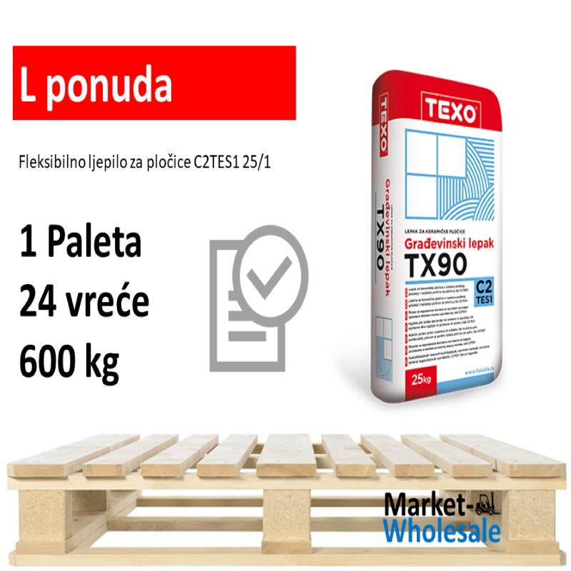 TEXO TX 90 -L - Fleksibilno ljepilo C2TE-S1
