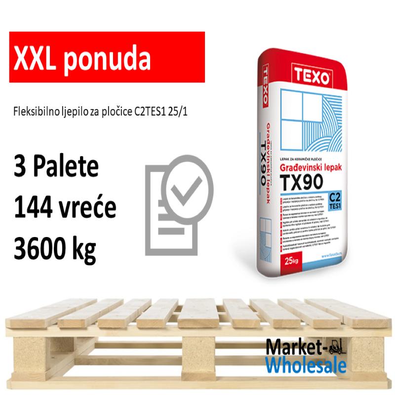Texo TX 90 -XXL - fleksibilno ljepilo C2TE-S1