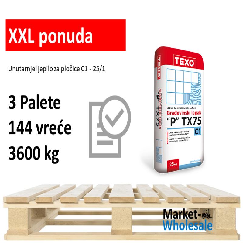 TEXO TX 75 -XXL -Unutarnje ljepilo za keramiku C1
