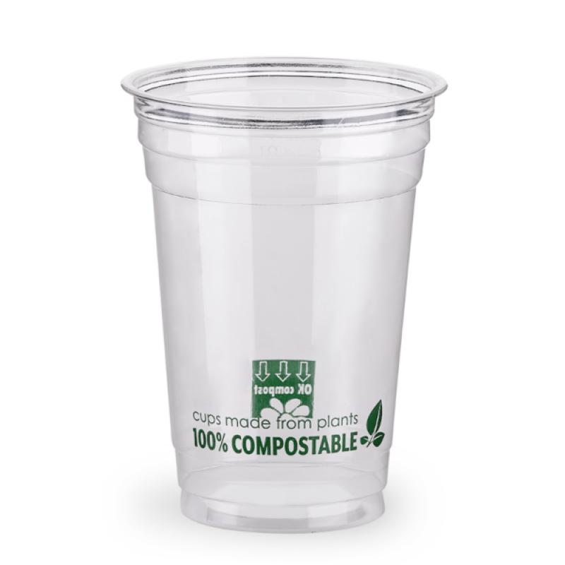 Čaša PLA 0,50L prozirna, COMPOSTABLE 95mm 50kom/pak