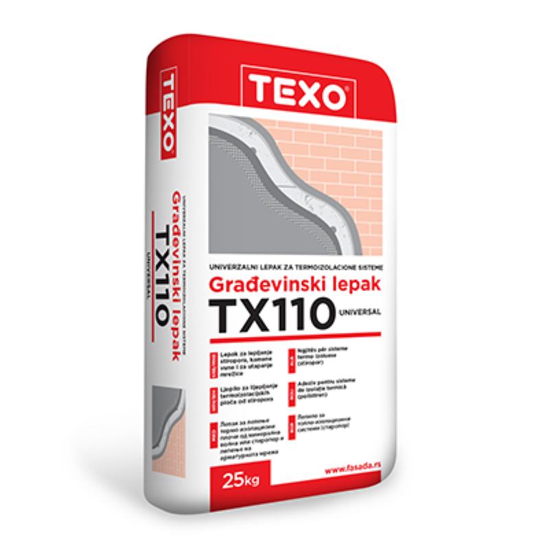 TEXO TX 110 SIVI - ljepilo za lijepljenje i armiranje