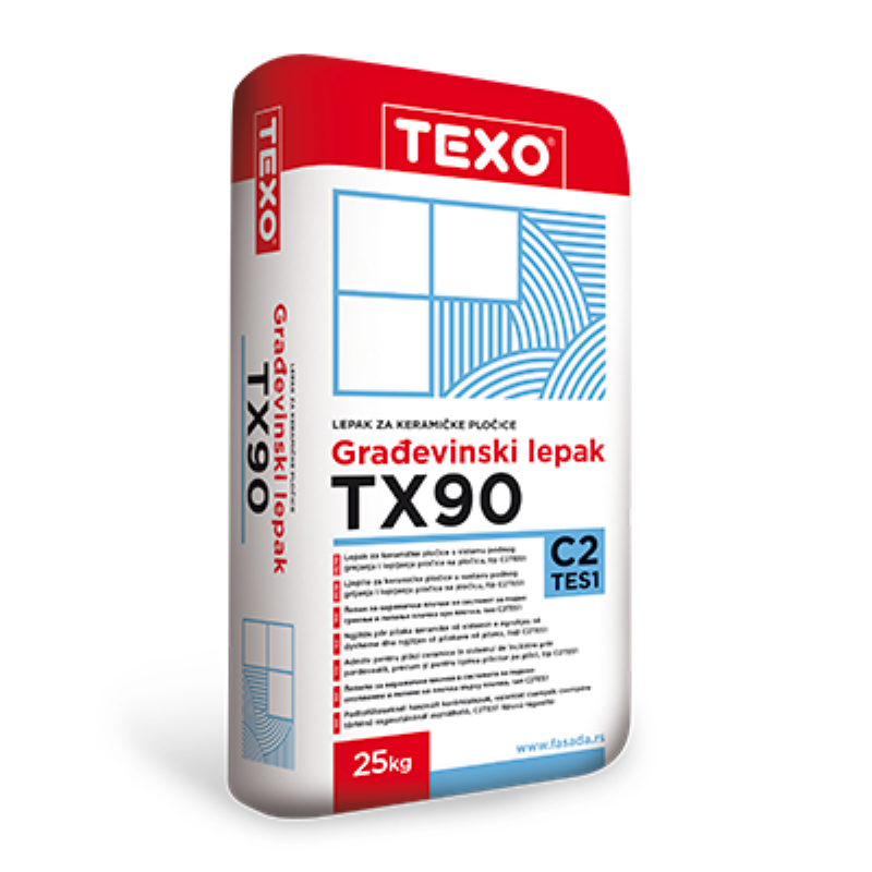 TEXO - TX 90 - C2TE-S1 fleksibilno ljepilo