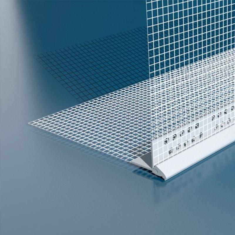 PVC kutnik s mrežicom i okapnicom 10 x 15 cm x 2,5 m (20kom-pak)