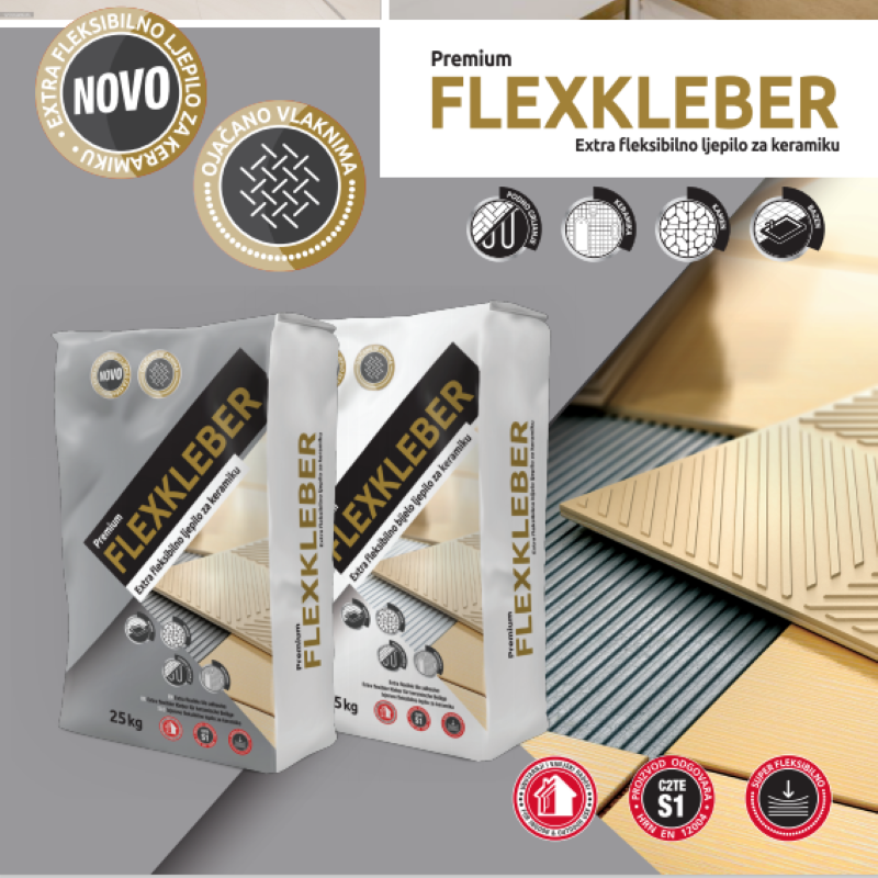 Samoborka Premium Flexkleber C2TES1 - Sivi - 25/1